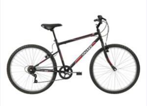 [FRETE GRÁTIS] Bicicleta Aro 26 Caloi Snake com 7 Marchas – Preta