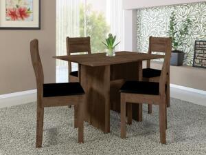 Mesa de Jantar 4 Cadeiras Retangular Indekes - Luiza R$ 285