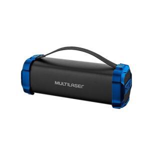 Caixa De Som Multilaser Bazooka BT/AUX/SD/USB/FM 50W Bivolt Preta E Azul