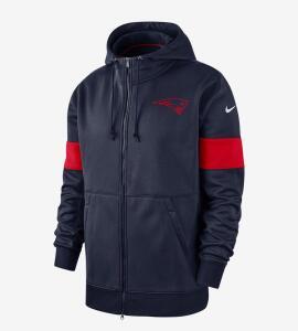 [De 349,99 por 149,99]Jaqueta Nike New England Patriots Therma Masculina