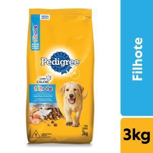 Leve 5 pacotes Ração Para Cachorros Pedigree 3kg R$ 162