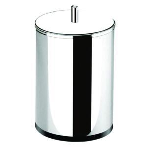 Lixeira Inox com Tampa 18.5 x 32 cm, Brinox, Decorline Lixeiras, Aço Inox, 7.8L R$ 55