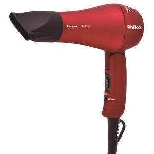 Secador de Cabelos Philco Titanium Travel Vermelho 1000W - Bivolt R$38