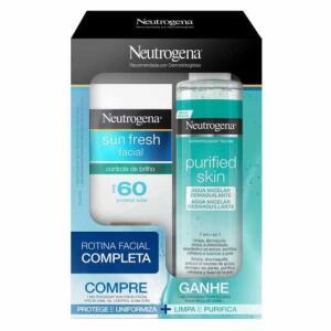 Kit Neutrogena Sun Fresh FPS 60 com Cor + Água Micelar Purified Skin - R$46