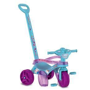 Triciclo Mototico Bandeirante Frozen II Passeio e Pedal - Azul/Roxo R$97