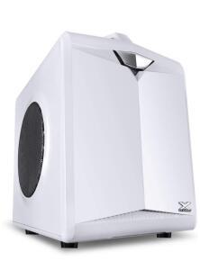 [PRIME] Gabinete Gamer Cubo Vx Gaming Cube Com Janela Em Malha Metálica Branco Com Alça, Vinik, 28828