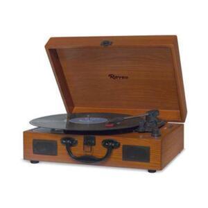 Vitrola Toca-Discos Raveo Sonetto Wood USB Entrada/Saída Auxiliar Bluetooth Design Maleta Marrom - R$217