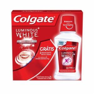 2 Unidades Kit Creme Dental Branqueador Colgate Luminous Brilliant White