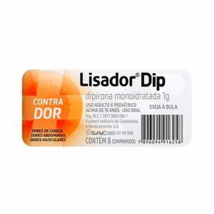 Lisador Dip 1g 8 Comprimidos