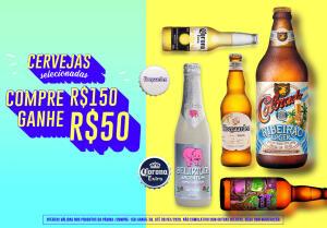 Compre R$ 150 e pague R$ 100 em Cervejas Selecionadas