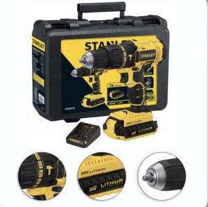 """Furadeira Parafusadeira Stanley de impacto 1/2"""" à bateria com maleta - R$469"""