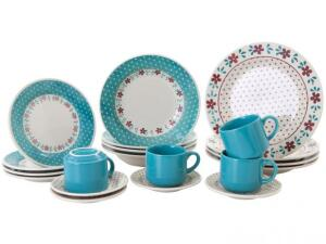 Aparelho de Jantar Chá 20 Peças Biona Cerâmica - Redondo Donna R$ 100