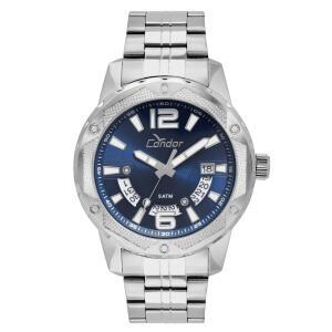 Relógio Condor Masculino Prata Analógico R$ 100
