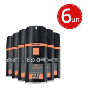 Kit Desodorante Aerosol Axe Body Spray Dark Tempatation - 6 unidades - R$39