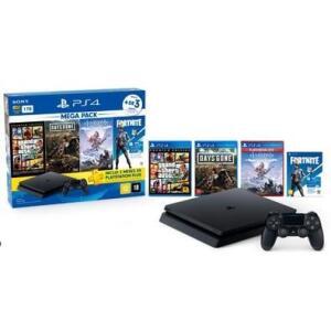 Console Sony PlayStation 4 Hits Bundle 6 1TB - GTA V + Days Gone + Horizon Zero Dawn + Voucher