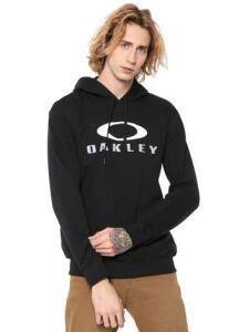 [APP KANUI] Moletom Flanelado Fechado Oakley Mod Dual Pullo Preto | R$108