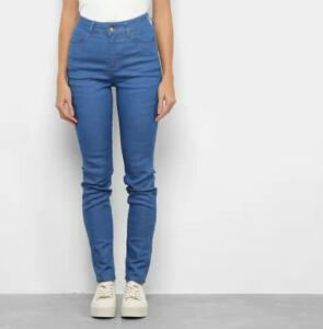 Calça Jeans Skinny Malwee Feminina - Azul