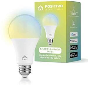 Smart Lâmpada Wi-Fi, Positivo Casa Inteligente, LED 10W, Branco Frio e Quente, Compatível com Alexa