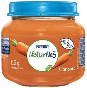 Papinha Cenoura Nestlé 115g | R$: 1,60 - Frete Grátis Prime