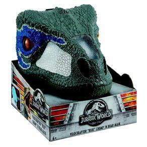 Máscara Eletrônica Velociraptor Blue Mattel Chomp 'n Roar - R$110