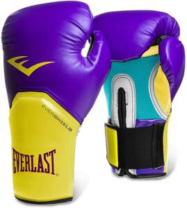 Luva Pro Style Elite Everlast Roxo C/ Amarelo 14 Oz   R$100