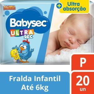 Fraldas Babysec P com 20 - R$9