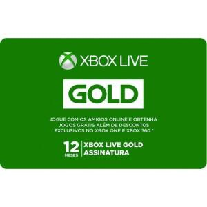 (APP) Gift Card Digital Xbox Live Gold 12 Meses
