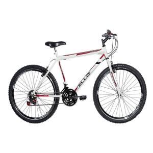 Bicicleta Aro 26 Aero 21 Marchas Velox Branca - Ello Bike | R$438
