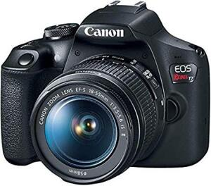 Câmera Digital EOS T7 Ef-S 18-55 F/3.5-5.6 Is II, Canon, Preto R$1.599