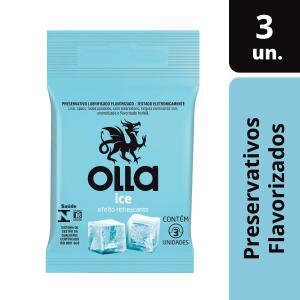 [PRIME] Preservativo Lubrificado Ice, Olla, Pacote de 3