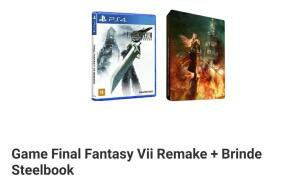 ( PRÉ VENDA) Jogo Final Fantasy VII Remake + Steelbook - PS4