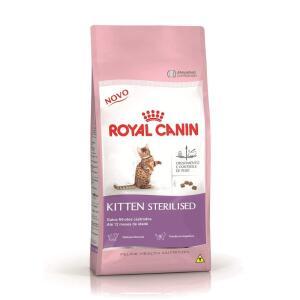 Ração Royal Canin Sterilised, Gatos Filhotes 7,5kg R$ 134