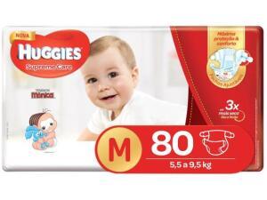 Fraldas Huggies Premium M 80 unidades