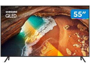"Smart TV 4K QLED 55"" Samsung QN55Q60RAG Wi-Fi - HDR 4 HDMI 2 USB R$2.944"