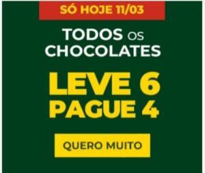 TODOS OS CHOCOLATES E BISCOITOS [ LEVE 6 PAGUE 4 ]