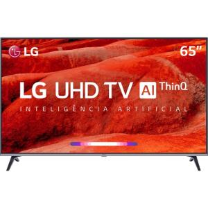 "(2519 AME+APP) Smart TV Led 65"" LG 65UM7520PSB Ultra HD 4K Thinq Ai Conversor Digital Integrado 4 HDMI 2 USB Wi-Fi"