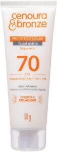Protetor Solar Facial Cenoura e Bronze Fps70 50G