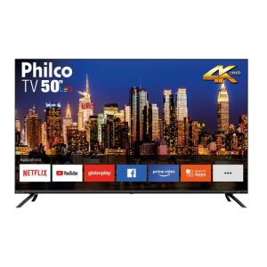 "[R$1.527 AME] Smart TV LED 50"" Philco PTV50G70SBL Ultra HD 4K Borda Infinita | R$1.697"
