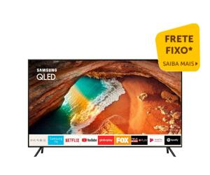 "Smart TV Samsung QLED UHD 4K 55"" QN55Q60RAGXZD Pontos Quanticos Modo Ambiente HDR 500"
