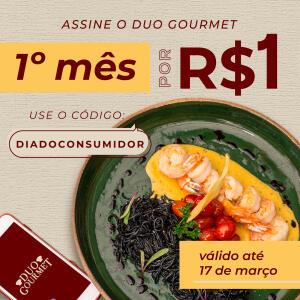 Duo Gourmet | Assinatura Mensal por R$1