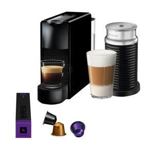 Máquina de Café Nespresso Essenza Mini C30 com Aeroccino e Kit Boas Vindas - Preta