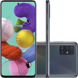 "Smartphone Samsung Galaxy A51 Android Tela 6,5"" Super Amoled Octa-Core 2.3 128GB 4G Câmera 48MP+12MP+5Mp - Preto (Cód.1442622552)"
