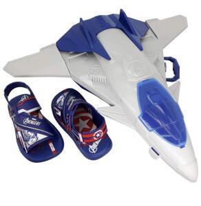 Sandália Avengers com Avião gigante