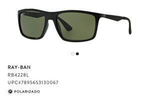 Óculos de sol Ray Ban RB4228 com lentes polarizadas