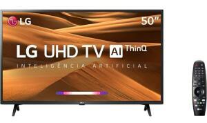 "Smart TV LED 50"" LG 50UM7360PSA Ultra HD/4K Wi-Fi Preto Conversor Digital Integrado"