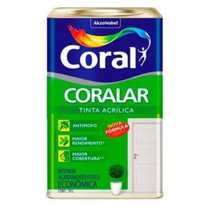 Tinta Coral Coralar Branco Neve - Lata 18 Litros
