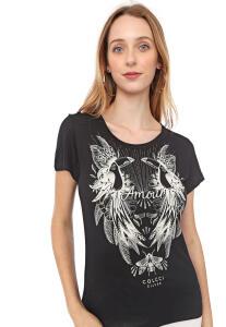 Camiseta Colcci Tucanos Preta R$60