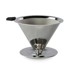 Filtro de Café Aço Coador Inox Reutilizável Permanente Ecológico R$ 40