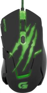 Fortrek OM-801, Mouse Gamer USB, 3200 DPI, Preto/Verde | R$30