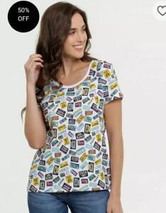 Blusa Feminina Estampa Placa Manga Curta Marisa